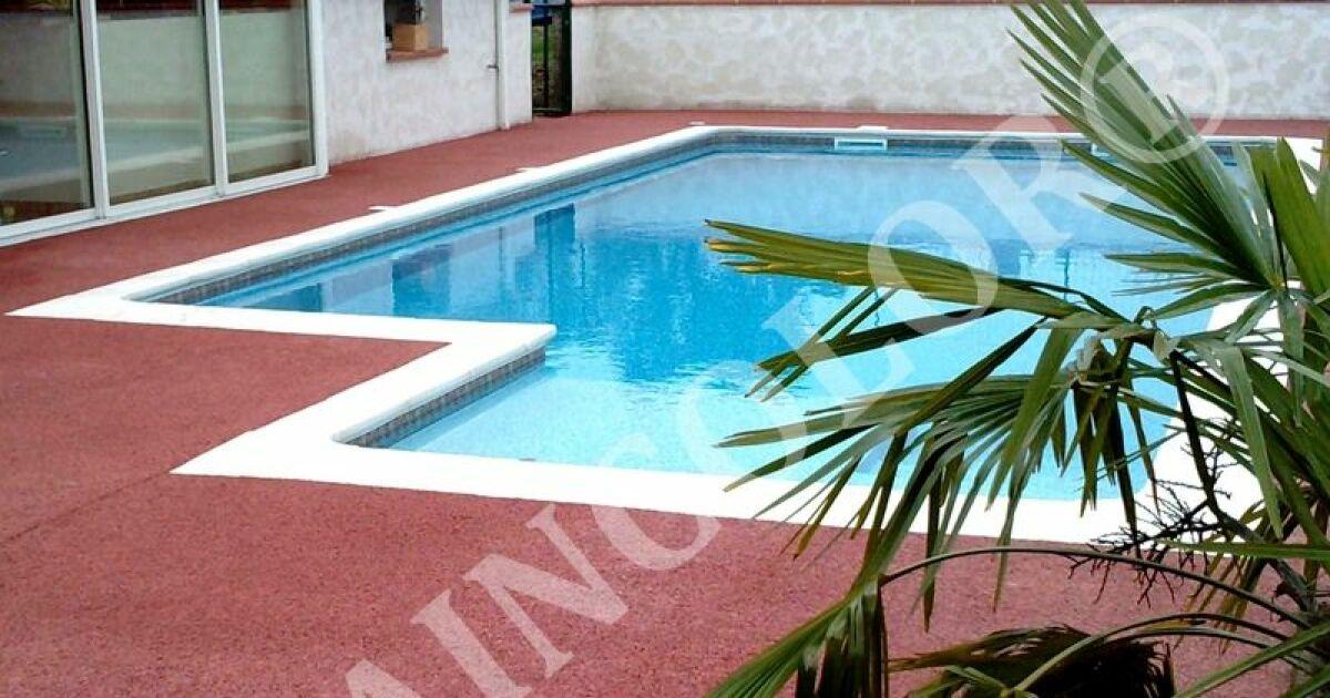 Draincolor du b ton drainant pour plages de piscine - Comment colorer du beton ...