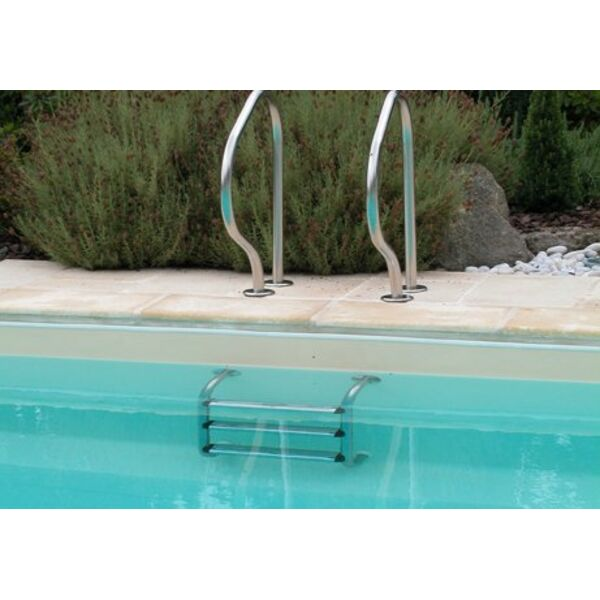 Chelle de piscine en inox for Piscine inox