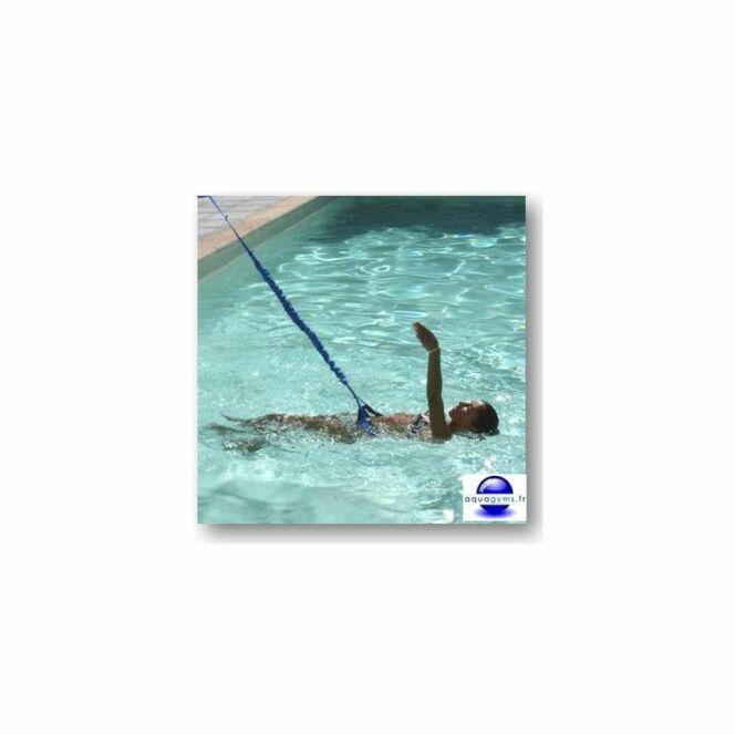 Faire du sport dans sa piscine elastique de natation par aquagyms photo 7 - Elastique pour nager piscine ...