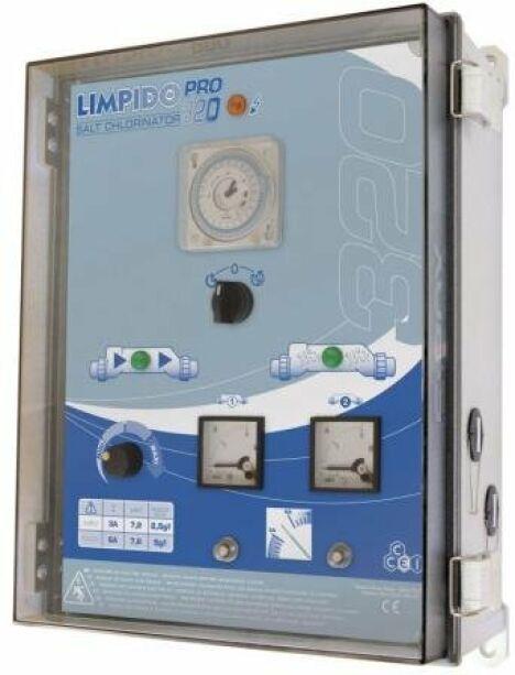 """Electrolyseur de sel électromécanique piscine Limpido<span class=""""normal italic petit"""">DR</span>"""