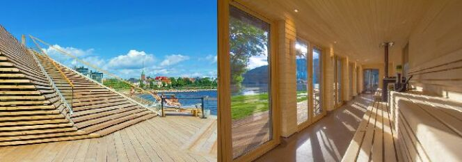 "En 2017, le sauna se réinvente selon le Global Wellness Summit<span class=""normal italic petit"">© Löyly Helsinki -Taymouthmarina</span>"