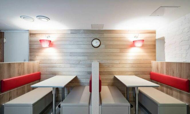"L'espace dinatoire<span class=""normal italic petit"">© Burger King</span>"