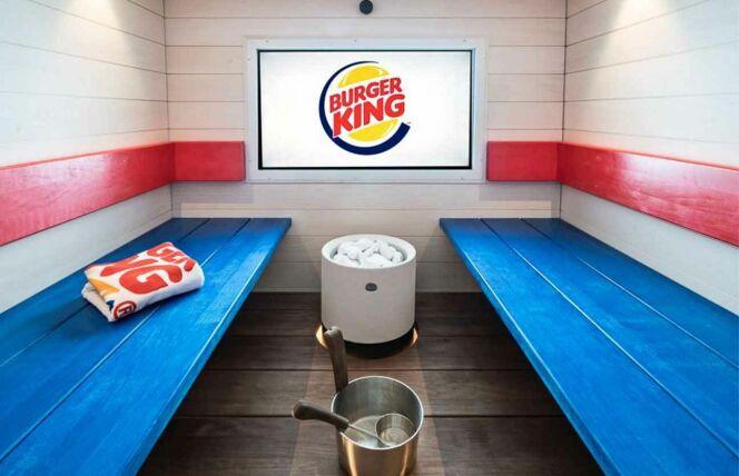 L'intérieur du sauna Burger King