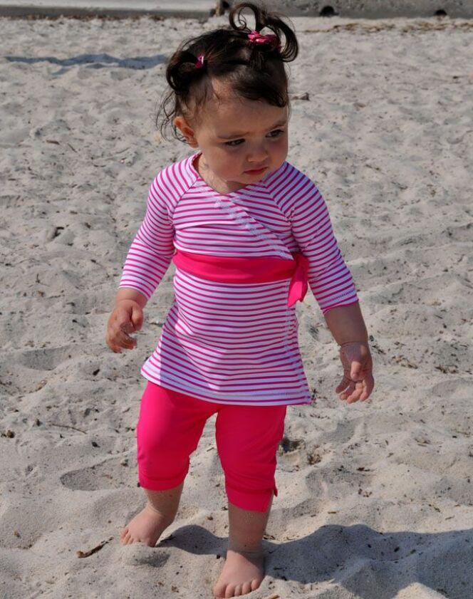 Ensemble de plage anti-UV à manches longues pour petite fille Little Duck