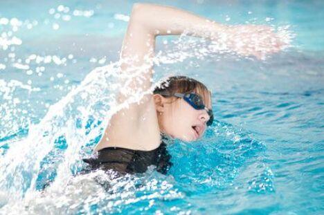 "Entraînements de natation<span class=""normal italic petit"">© mr.markin - Fotolia.com</span>"