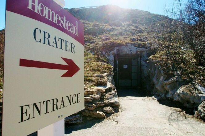 Entrée du Homestead Crater