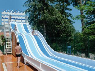 Le pentagliss de la piscine à Vernet les Bains
