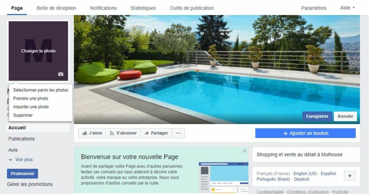 Ajouter des photos votre page facebook for Simulateur piscine