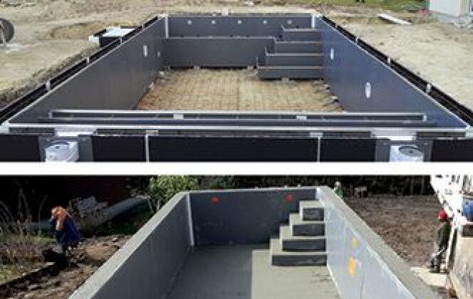 Les étapes de la construction Unibéo © DR