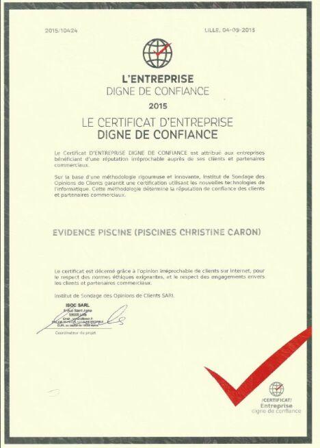 Evidence Piscine (Piscines Caron) à Neufmoulin