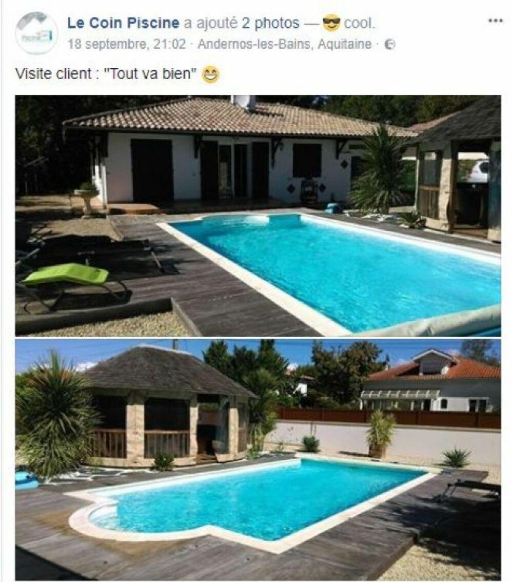Exemple de réalisation d'une piscine.© Page Facebook Le Coin Piscine