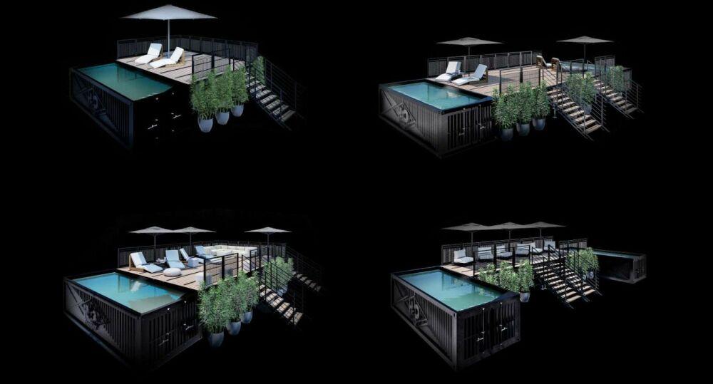 Exemples de configurations possibles© H2O Lounge