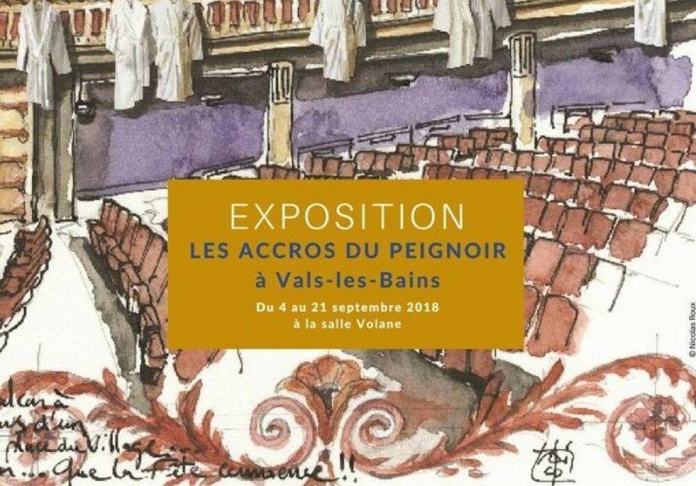 Exposition des Accros du Peignoir à Vals-les-Bains© Les Accros du Peignoir