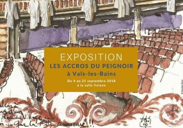 Exposition des Accros du Peignoir à Vals-les-Bains