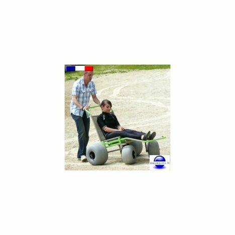 "Fauteuil roulant tout terrain Baroudeur<span class=""normal italic petit"">© Aquagyms</span>"