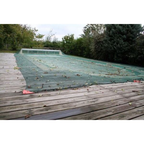 Filet d 39 hivernage pour piscine protection et s curit - Filet de volley pour piscine ...