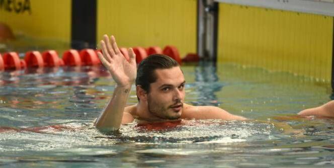 """Florent Manaudou victorieux sur 100m<span class=""""normal italic petit"""">© J. CROSNIER/L'Equipe</span>"""