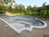 Le fond de fouille d'une piscine : une étape du terrassement