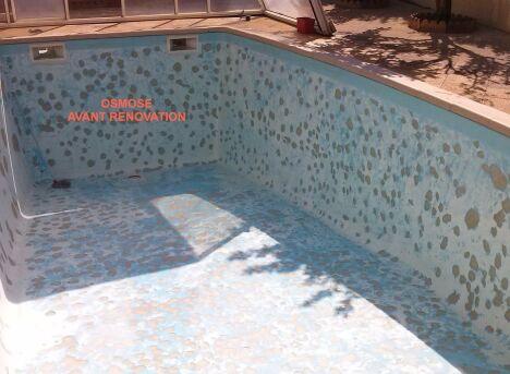 piscine osmosée après ponçage