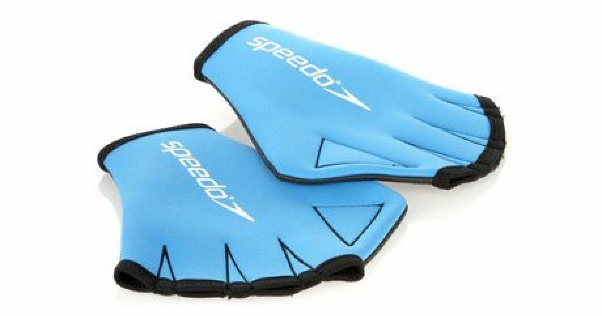 Gants de natation ou d 39 aquagym aqua speedo - Nager en piscine avec des palmes ...