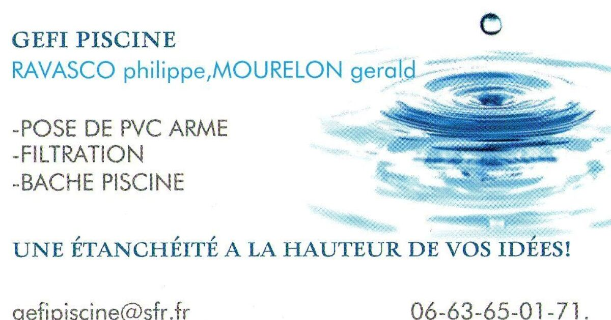 Gefi piscine saint michel sur rh ne pisciniste loire 42 - Piscine loire sur rhone ...