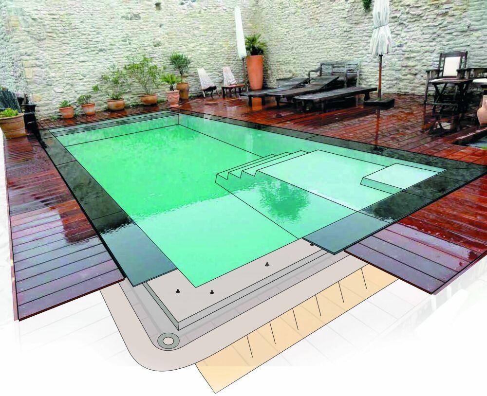 Génération Piscine : une piscine coque miroir dans votre jardin© Génération Piscine