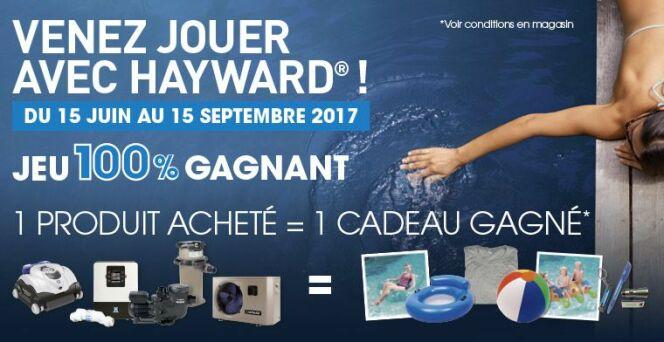"""Grand jeu 100% gagnant Hayward<span class=""""normal italic petit"""">© Hayward</span>"""