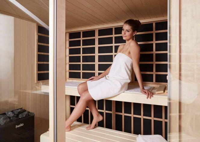 Helo Sauna : Visage Vista : sauna classique et infrarouges, sans une seule et même cabine