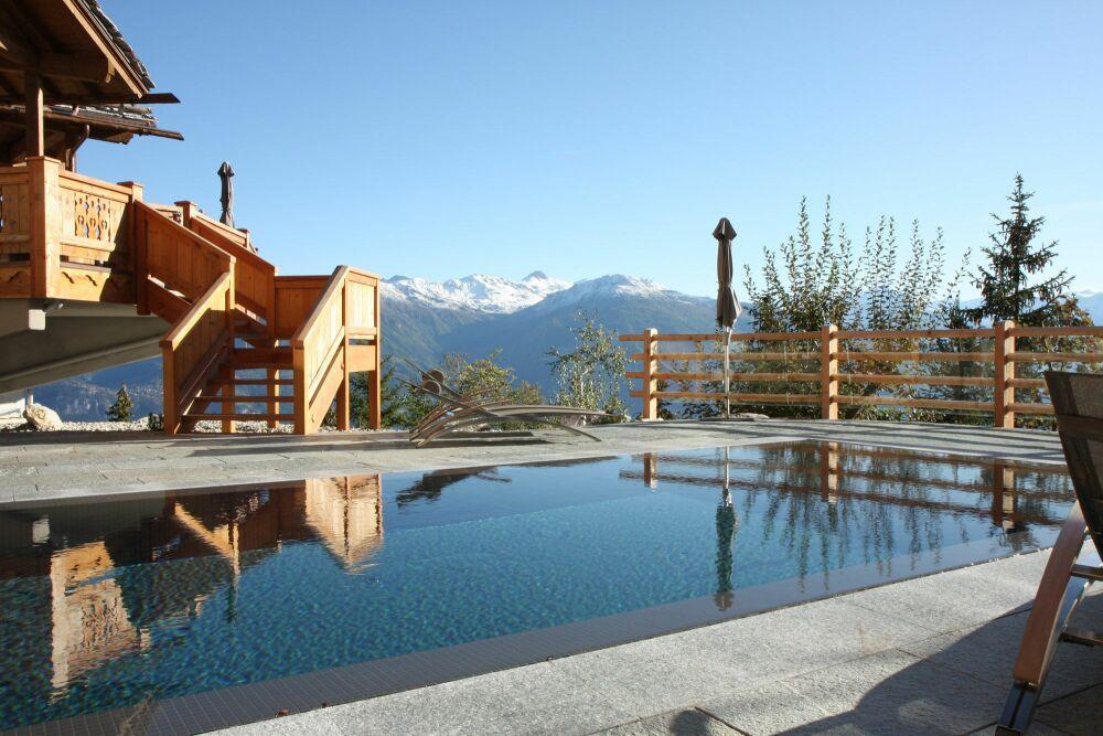 Hiver comme été, profitez d'un magnifique panorama© Hôtel le Crans