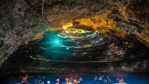 Homestead Crater : une piscine naturelle dans une grotte