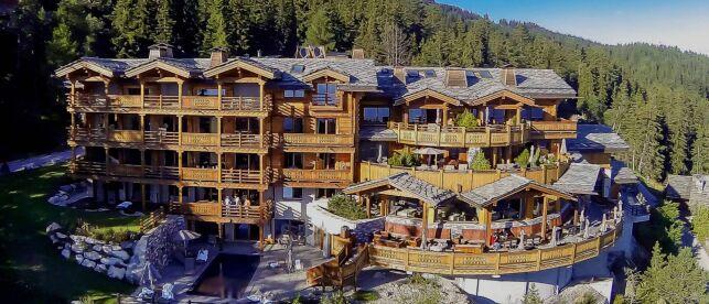 Hôtel le Crans, dans les Alpes Suisses