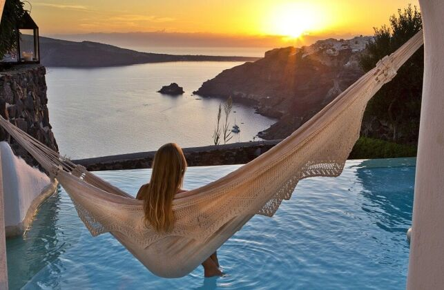 Hôtel Perivolas à Oia en Grèce