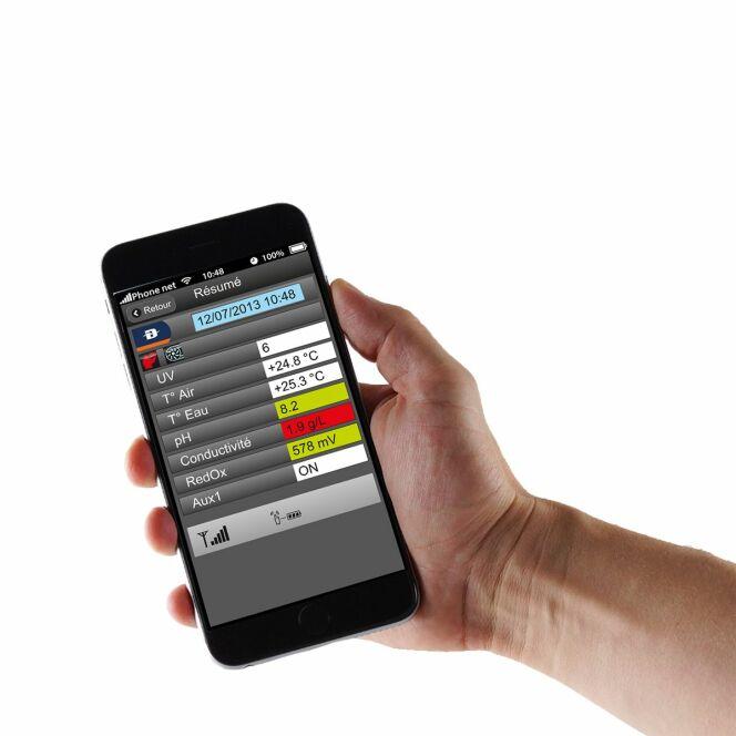 Commandez votre piscine et les paramètres d'Hydrocapt Pilot depuis votre mobile.