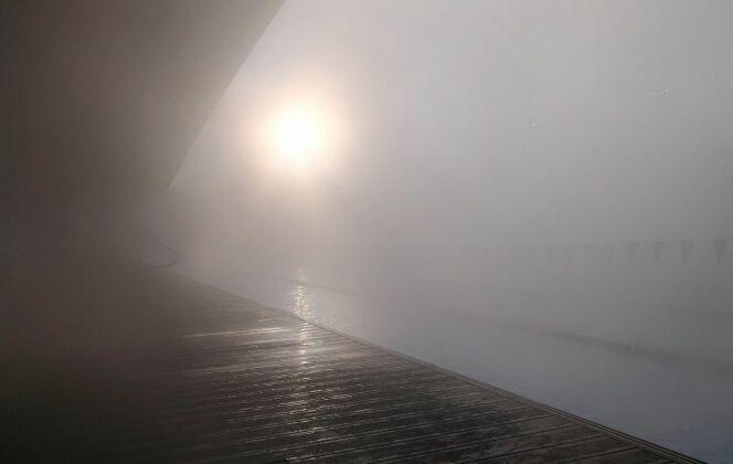 Il devient même parfois difficile de voir où l'on nage avec l'épais brouillard. DR