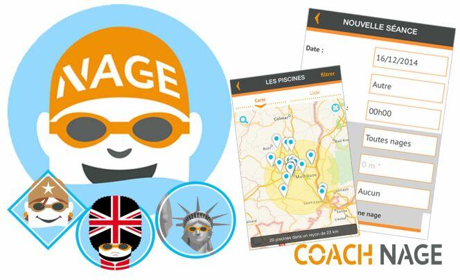 Les différentes fonctionnalités de l'appli Coach Nage.