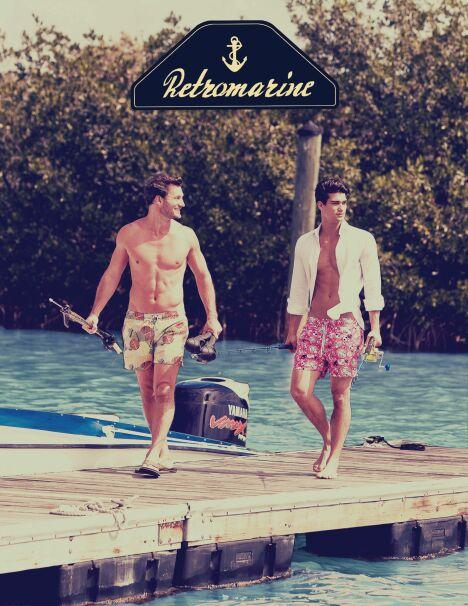 """Imprimé chic ou fantaisie, le boardshort Retromarine ne passe pas inaperçu sur la plage en 2013.<span class=""""normal italic petit"""">© Retromarine</span>"""