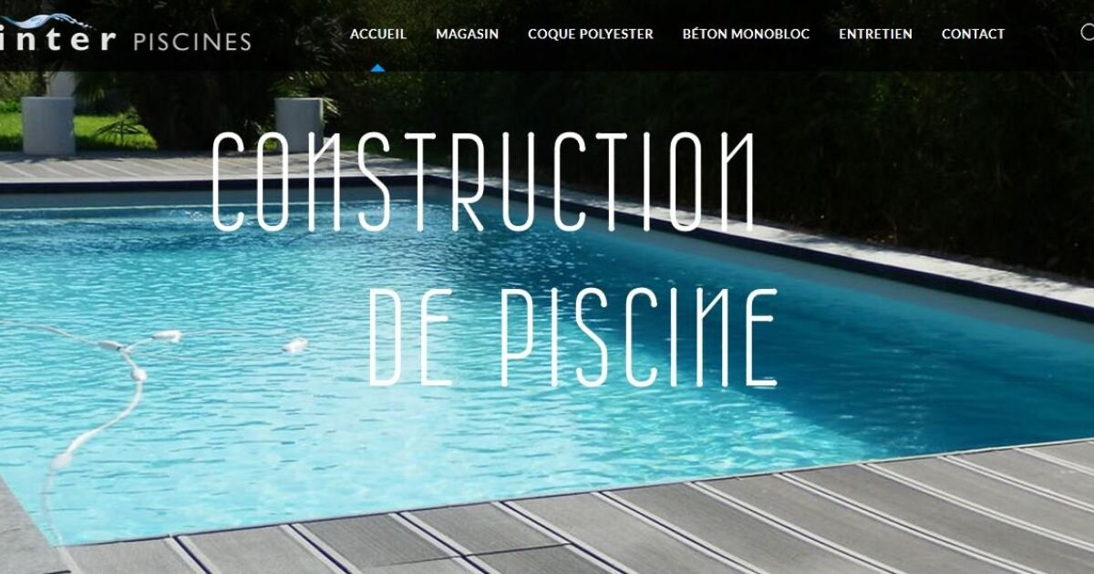 inter piscines g menos pisciniste bouches du rh ne 13. Black Bedroom Furniture Sets. Home Design Ideas
