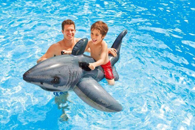 "Le requin blanc flottant<span class=""normal italic petit"">© Intex</span>"