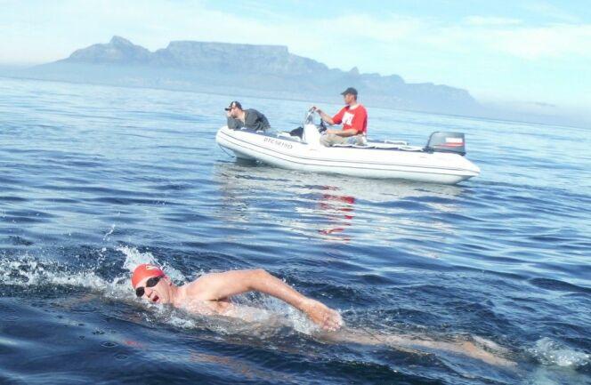 Jacques Tuset lors de la traversée de Robben Island