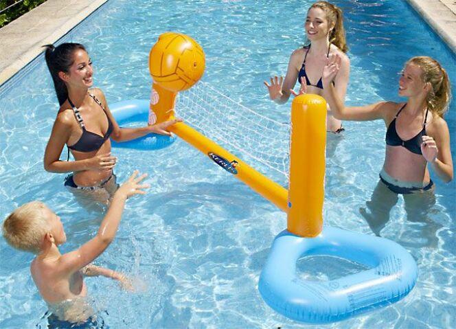 Jeu de volleyball gonflable pour piscine - Rete pallavolo piscina ...