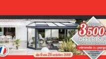 Jusqu'à 3 500€ offerts chez Akena Vérandas
