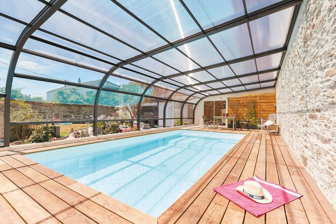 L'abri de piscine adossé Attik