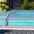 L'abri de piscine en PVC