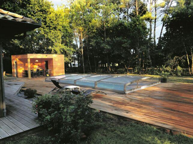 L'abri de piscine Néo 30 gris