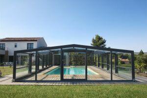 L'abri de piscine Optimo, par Abridéal