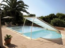 Abri de piscine plat : l'abri ultra bas