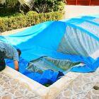 L'abri de piscine souple repliable