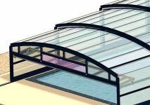 Nouveauté Abrisud : l'abri de piscine télescopique mi-haut