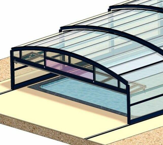 L'abri de piscine télescopique mi-haut par Abrisud