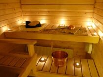 L'éclairage d'un sauna